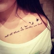 most fabulous collar bone tattoos for girls