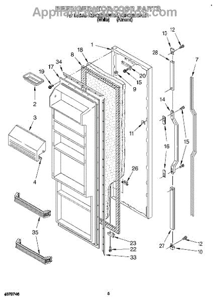 Refrigerator Door Replacement Parts by Parts For Kitchenaid Ksrc22dbwh01 Refrigerator Door Parts
