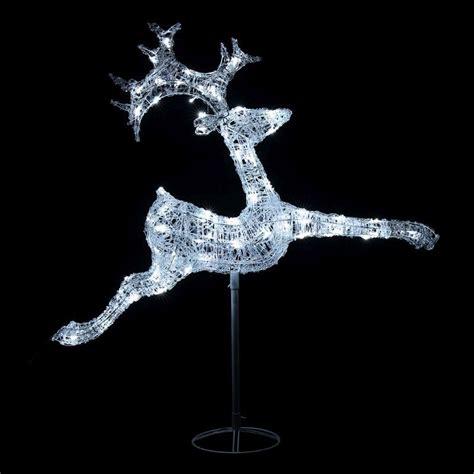 acrylic led reindeer acrylic jumping reindeer white led garden decoration buy