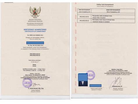 sertifikasi kompetensi k3