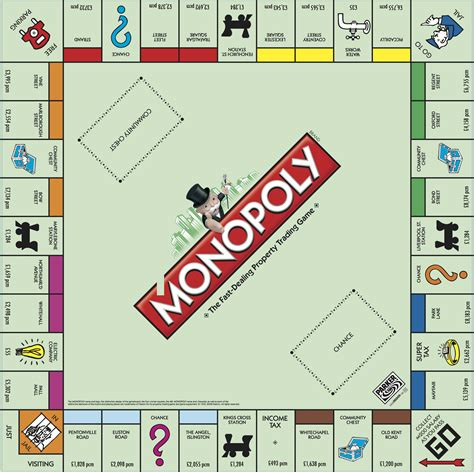 Monopoly Card Template Illustrator by Here S What The Monopoly Board Would Look Like For