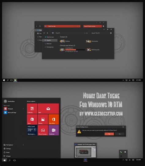 themes for windows 10 deviantart numix dark theme for windows 10 rtm by cleodesktop on
