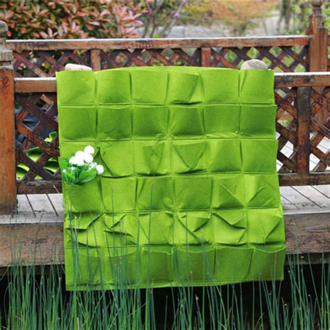 Pocket Vertical Garden 36 Pocket Vertical Garden New Felt Wall Grow Bag Garden