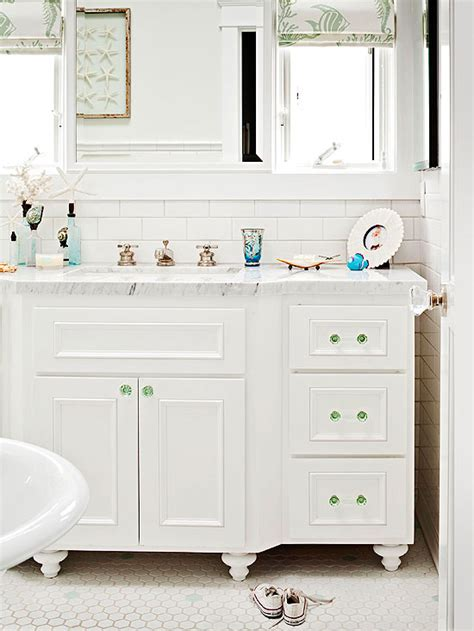 green and white bathroom ideas white and green bathroom cottage bathroom bhg