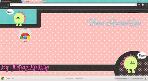 google chrome themes love live theme google chrome monsterlove by therapismylife on