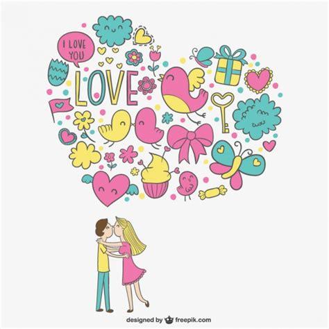 imagenes de parejas romanticas en dibujo pareja rom 225 ntica con dibujos descargar vectores gratis