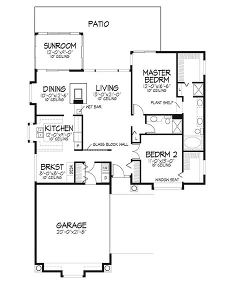 idamor modern ranch home plan 072d 0437 house plans and more