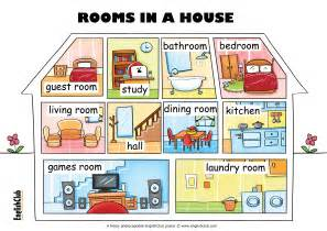 types of rooms in a house esl posters english club