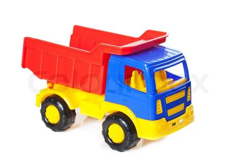 Size Of 2 Car Garage by Colorful Toy Truck Stock Photo Colourbox