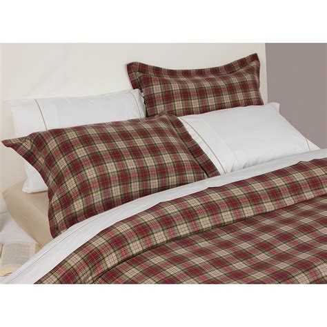 tartan plaid bedding design port winton red and beige tartan plaid brushed
