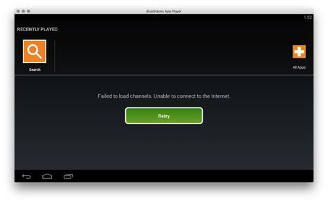 bluestacks cannot connect to internet macos bluestacks application failed to load channels