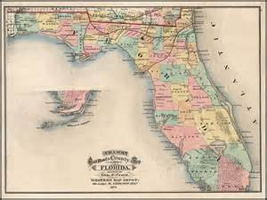 cram s rail road township map of florida 1875