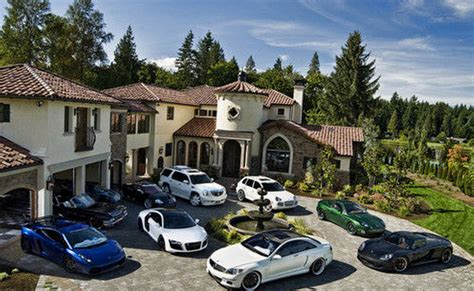 house and cars mansions cars homes of the rich
