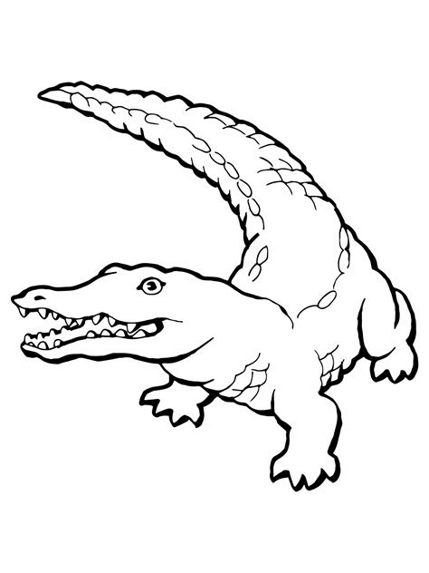 Free Printable Crocodile Coloring Pages For Kids Free Coloring Pictures Printable