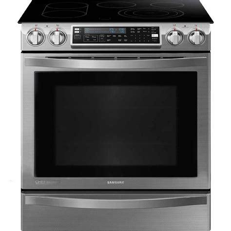 samsung ne58h9950ws 5 8 cu ft slide in electric chef collection range w flex ebay
