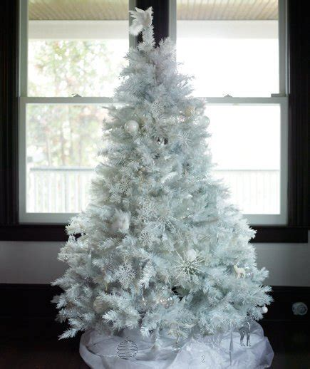 decorated white tree ideas white stylish decorating ideas