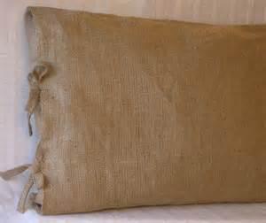 2 king burlap pillow shams with tie closure 36 x