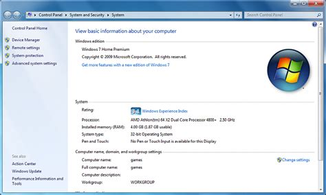windows 7 professional 64 bit ram limit windows 7 home premium 32 bit vs 64 bit