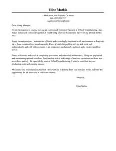 Leading Professional Extrusion Operator Cover Letter
