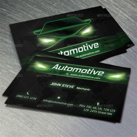 Automotive Bussiness Card Templates by Automotive Business Card V2 By Oksrider Graphicriver