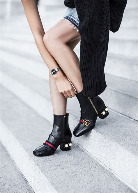 Tas Gucci Marmont Pearl 678 Seprem shoe alert gucci peyton pearly heel ankle boot tsangtastic bloglovin