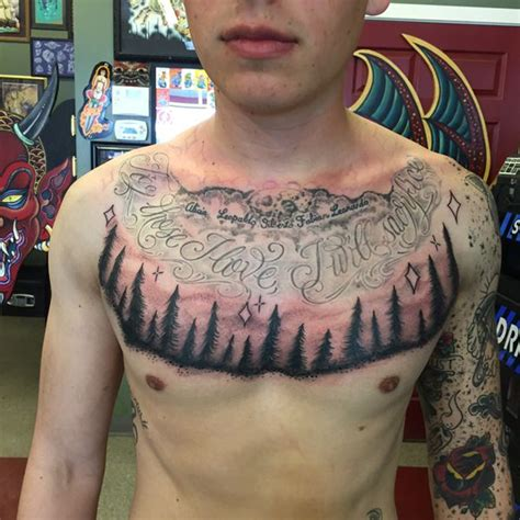 tattoo across chest 45 tree tattoos that will grow your inspiration