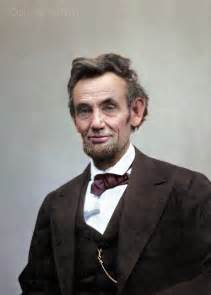 what color was abraham lincoln abraham lincoln in color pics