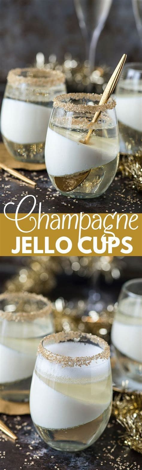 new year desserts chagne jello cups jello cups layer and new year s