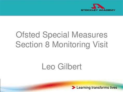 ofsted section 5 leo gilbert post ofsted report