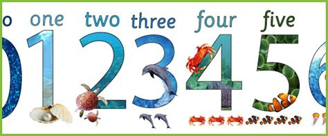 Decorative Homes Under The Sea Display Numbers Free Early Years Amp Primary