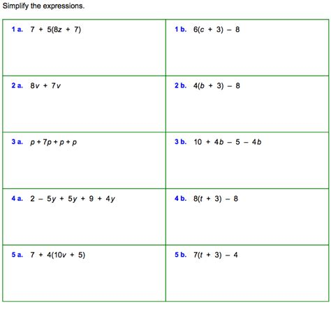 algebraic expressions and equations worksheets for 7th grade math variable worksheets translating phrases into algebraic expressions worksheetsexponents