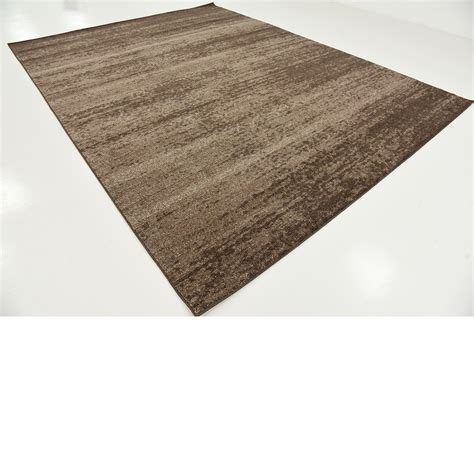 Thin Area Rugs by Modern Plain Rugs Soft Thin Pile Area Carpet Brown 9 X 12