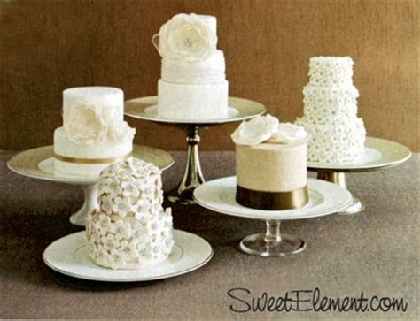 miniature cakes and wedding cake 60 miniature cakes plus a mini cakes instead of large cake weddingbee