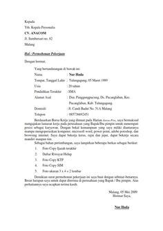 contoh surat lamaran kerja restoran contoh surat lamaran kerja restoran ben jobs k pinterest