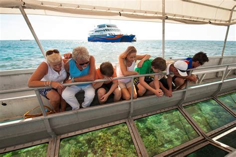 glass bottom boat tours gold coast outer great barrier reef cruise