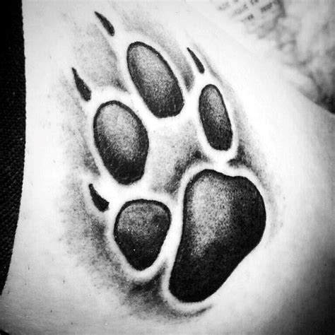 dog paw tattoo meaning cool shaded paw print tattoos tattoos wolf