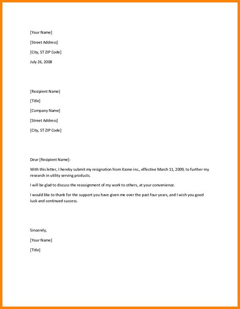 resign letter template doc simple resignation letters exles seeabruzzo how to write a