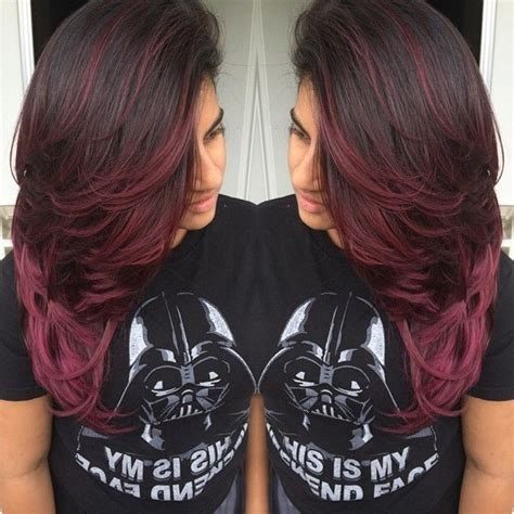 brunette and red hair pictures hombre ombre brown hair weavy long beauty tips pinterest