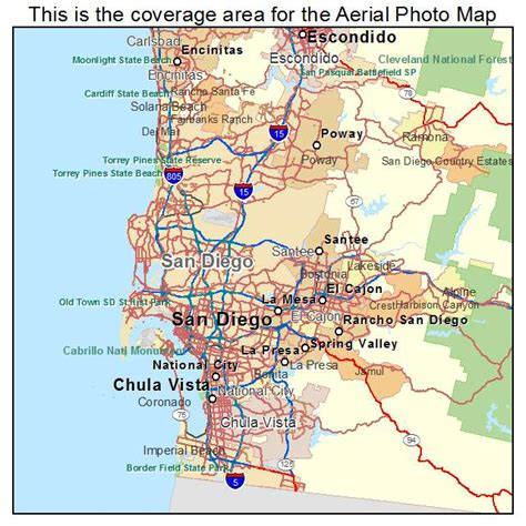 map of san diego ca aerial photography map of san diego ca california
