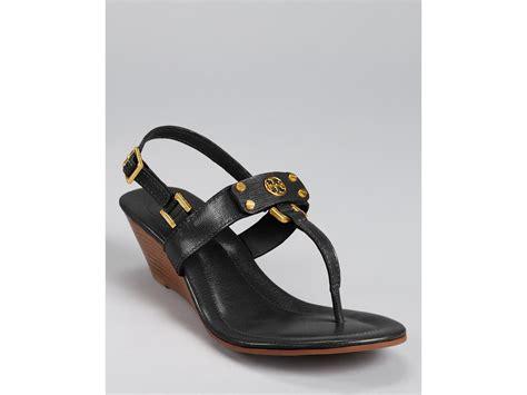 burch black sandals burch sandals robinson demi wedge in black lyst