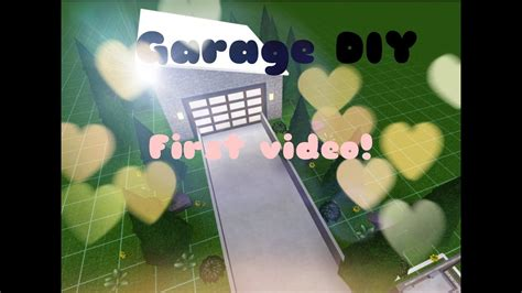 bloxburg modern garage build  video youtube
