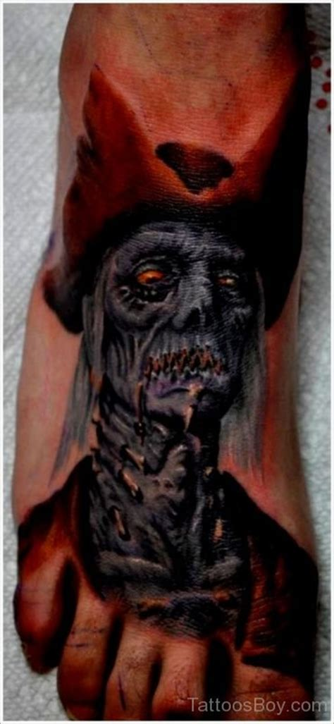 horror zombie tattoo on foot real photo pictures images zombie tattoos tattoo designs tattoo pictures