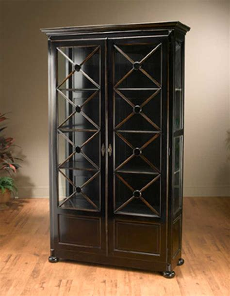 Large Black Bookshelf Classic And Functional Home Storage Furniture Wooden