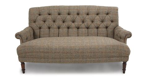 Leather And Tweed Sofa Kintyre Midi Sofa Harris Tweed Dfs