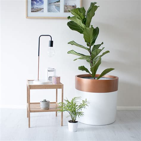 white indoor planter copper top white indoor outdoor planter pot the