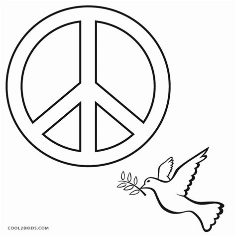 Free Printable Peace Sign Coloring Pages Cool2bkids Peace Sign Coloring Page
