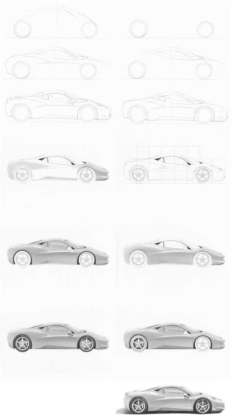 steps for car how to draw a car dr