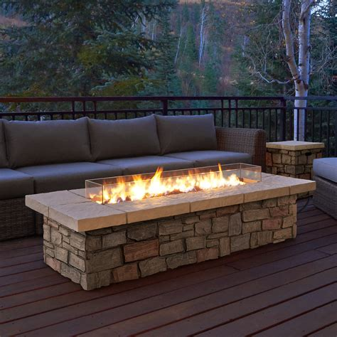 outdoor gas fireplaces pits real sedona propane pit table reviews wayfair