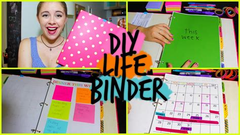 diy binder organize your calendar work school