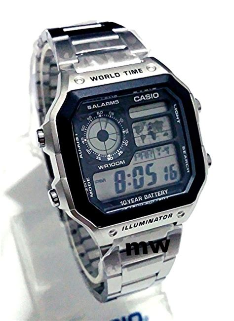 Casio Original Word Time casio ae1200 ae1200whd world time illuminator digital